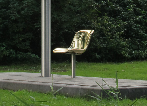 philip luschen golden chair